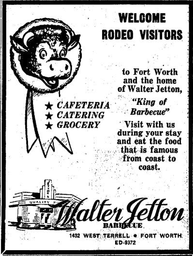 Walter Jetton Ad 1952