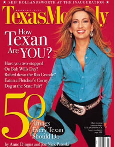 March 2001 Issue Cover