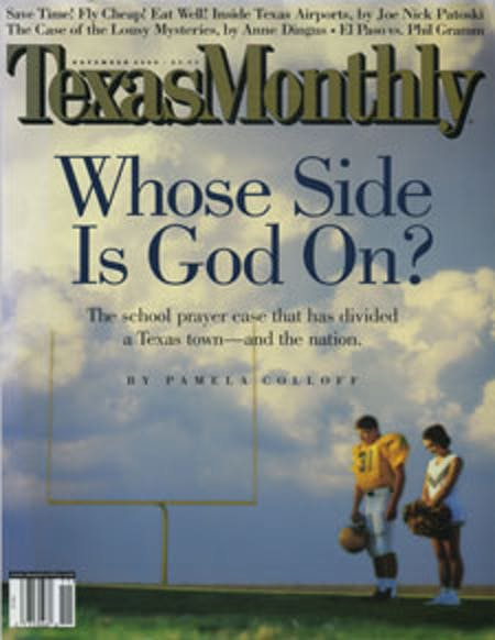 November 2000 issue cover