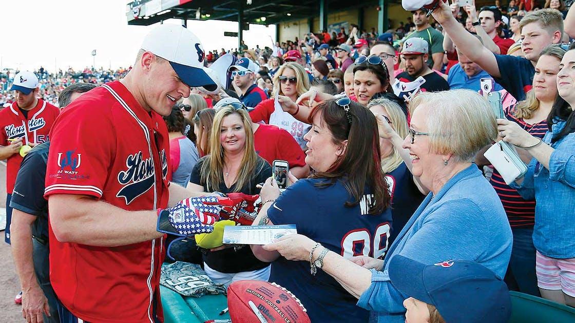 J.J. Watt charity softball