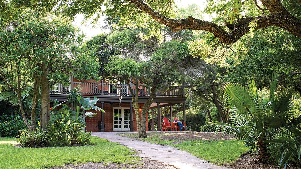The Inn at Chachalaca Bend is a semi-secluded six-room retreat that sits on a curve of the Resaca de las Antonias, a former channel of the Rio Grande.