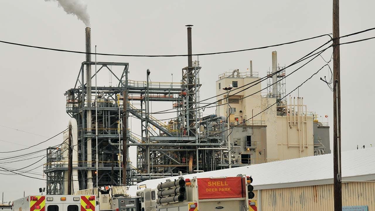 DuPont plant pesticide tower, La Porte.
