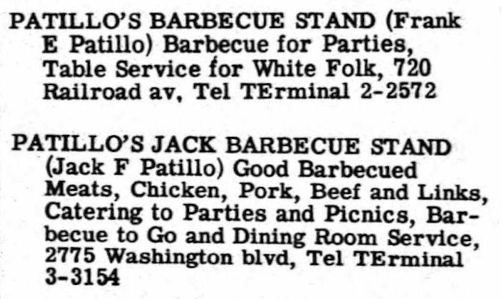 1957 Beaumont Directory crop