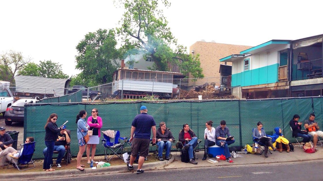 Franklin Barbecue line