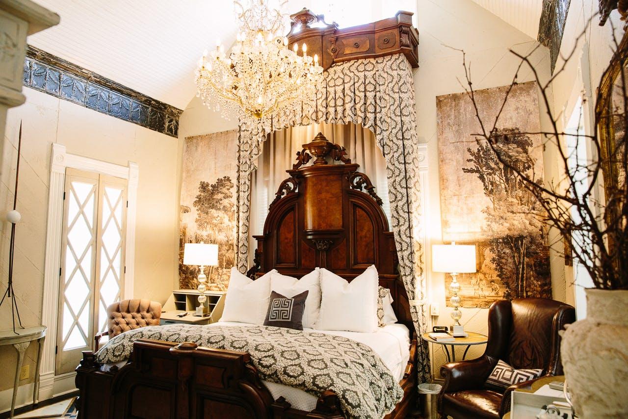 The Sayles Landmark's aptly named Luxe room.