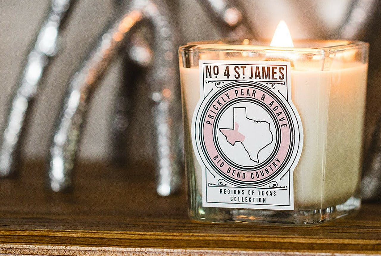 No 4 St James Regions of Texas candles gift guide
