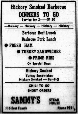 Sammy's Smoked Turkey 1946