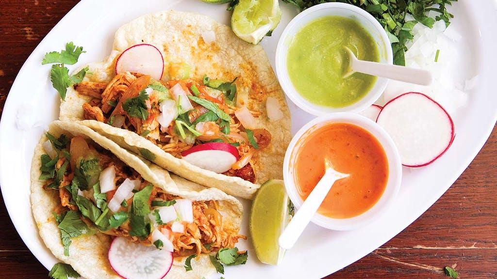 Tacos-Chicken-Tinga-El-Taco-Del-Rincon-De-Villa-Dallas