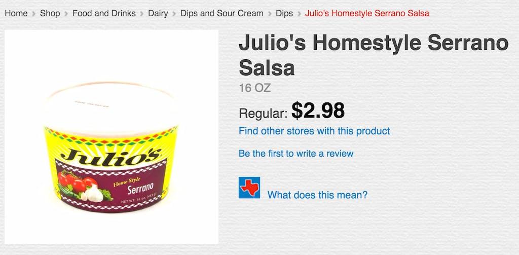 julio's salsa