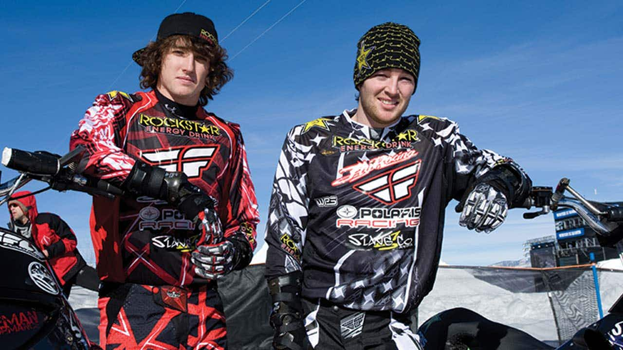 Colten and Caleb Moore during the 2011 Winter X Games in Aspen.