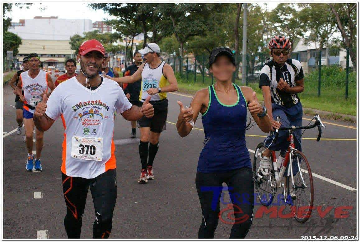 Youssef Khater and AB running in the Marathon Costa Rica on December 6, 2015.