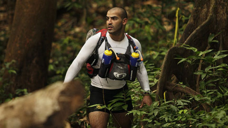 Youssef Khater competing in Brazil's 2010 Jungle Marathon.