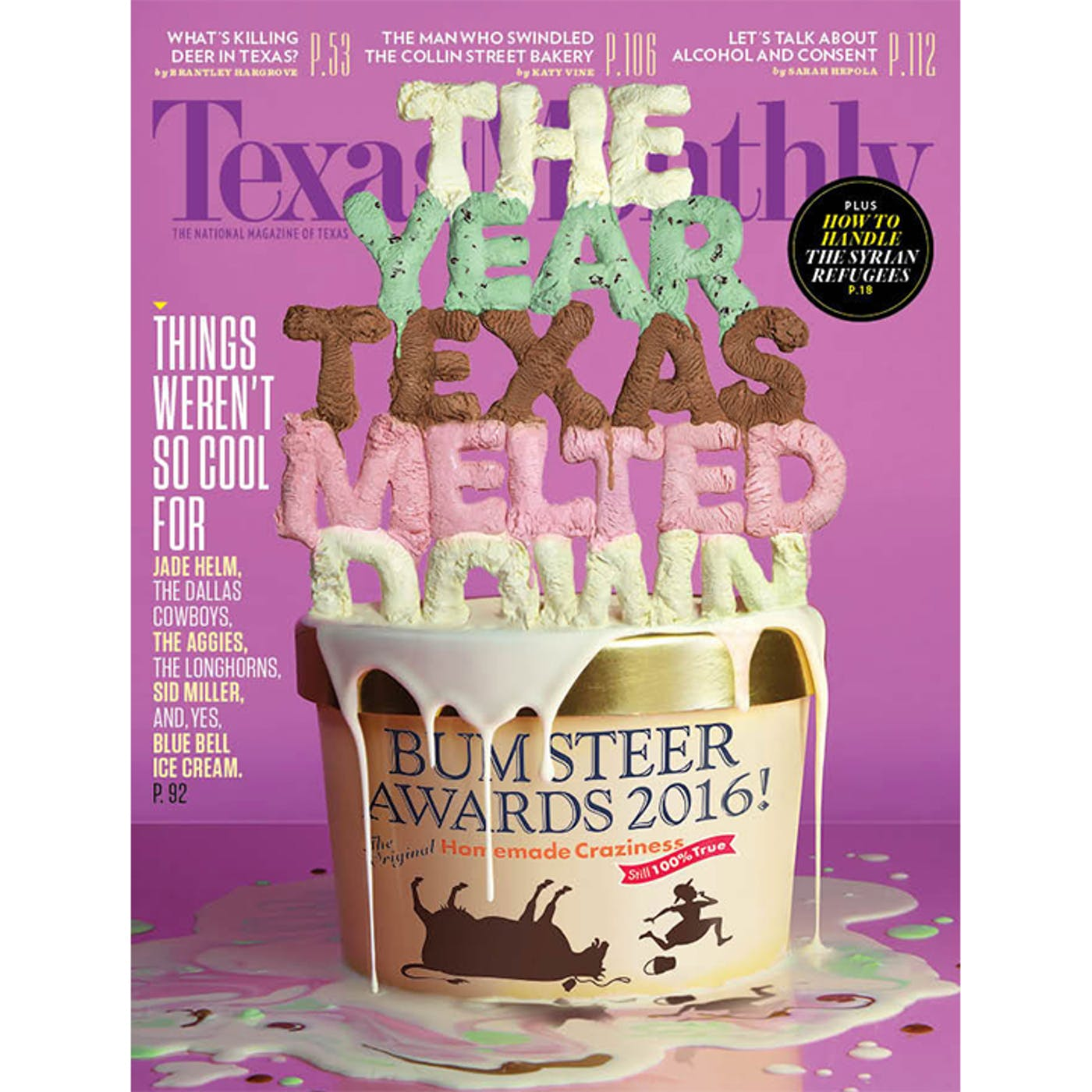 Wondrous And The Bum Steer Of 2016 Is Texas Monthly Personalised Birthday Cards Veneteletsinfo