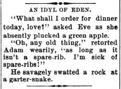 1896 The Daily Hesperian Eve Joke