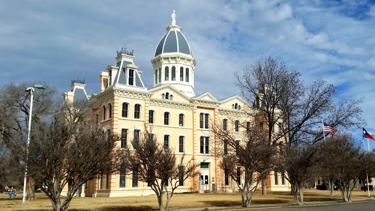 The Presidio County Courthouse.
