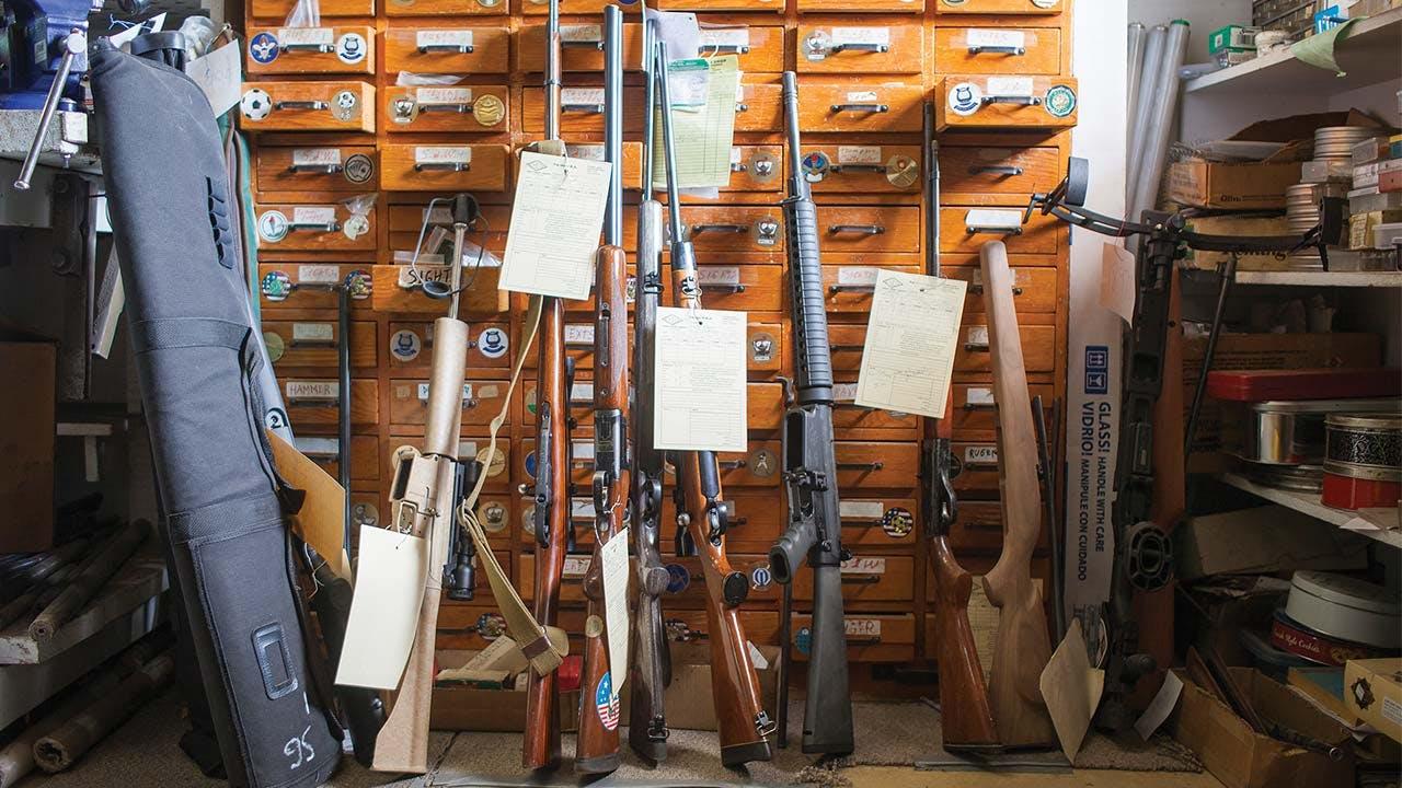 Consignment stock at Chuy's Gun Shop.