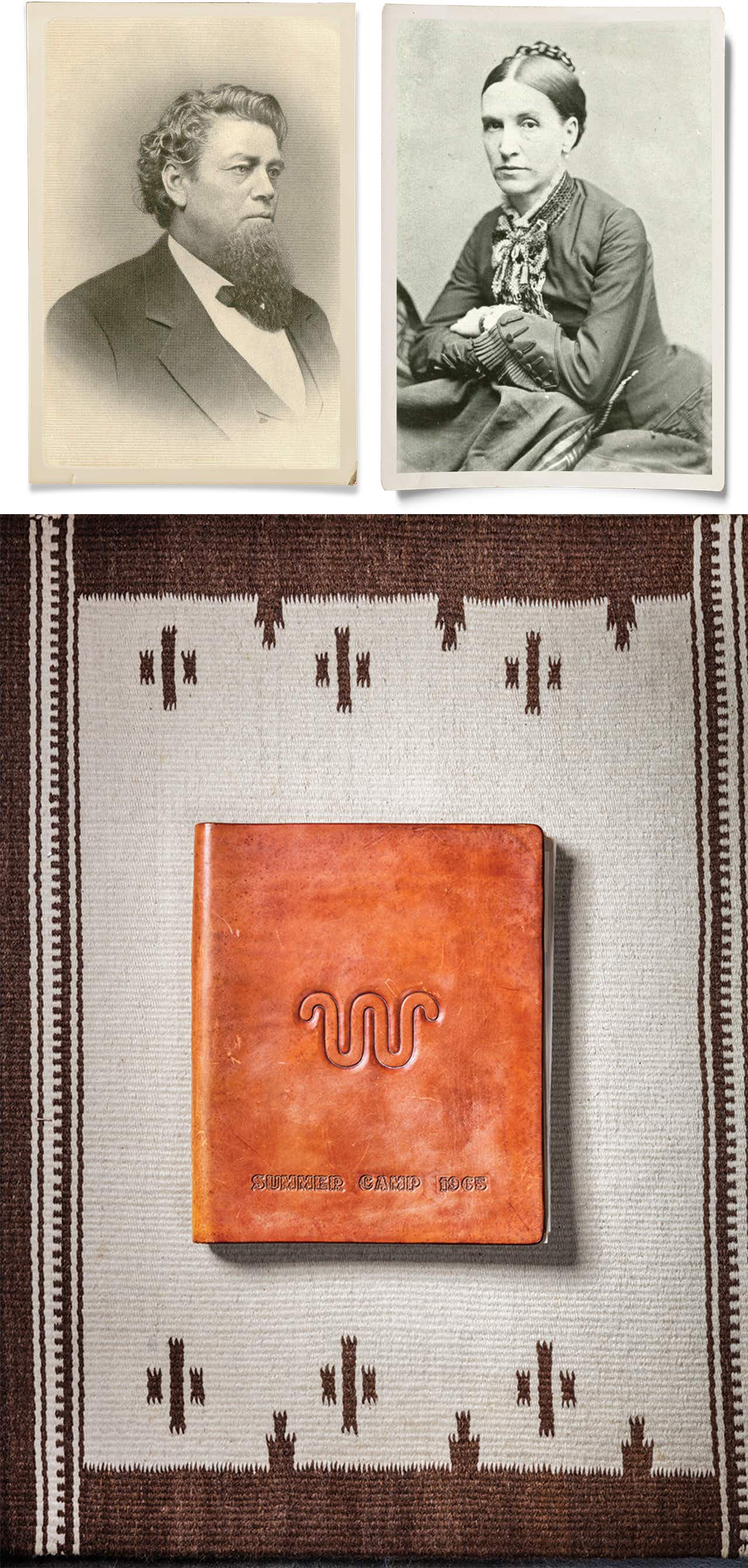 Images of Richard from 1880 and Henrietta from 1871 appear in the house along with King Ranch family photo albums.