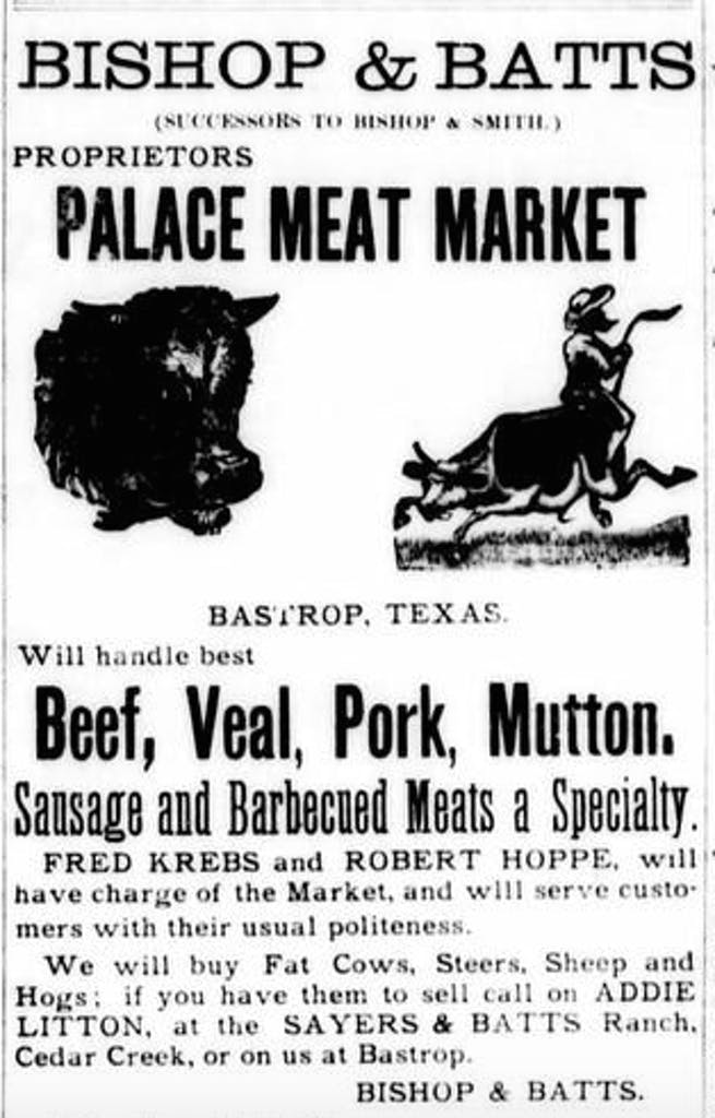 Bastrop 1892 Palace Meat Market