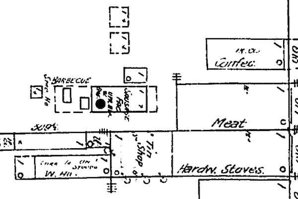 Bastrop Sanborn 1891 closer