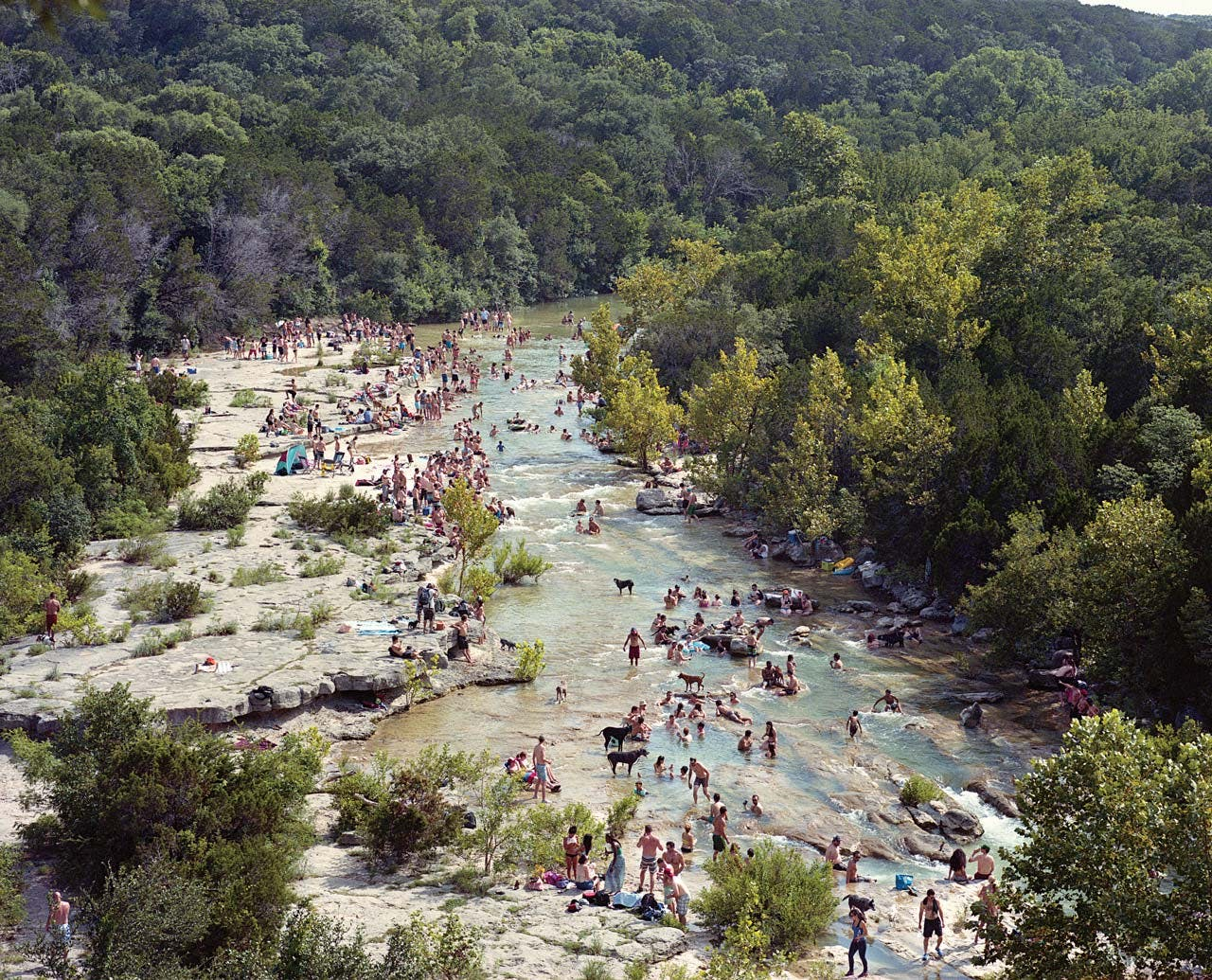 The Barton Creek Greenbelt.