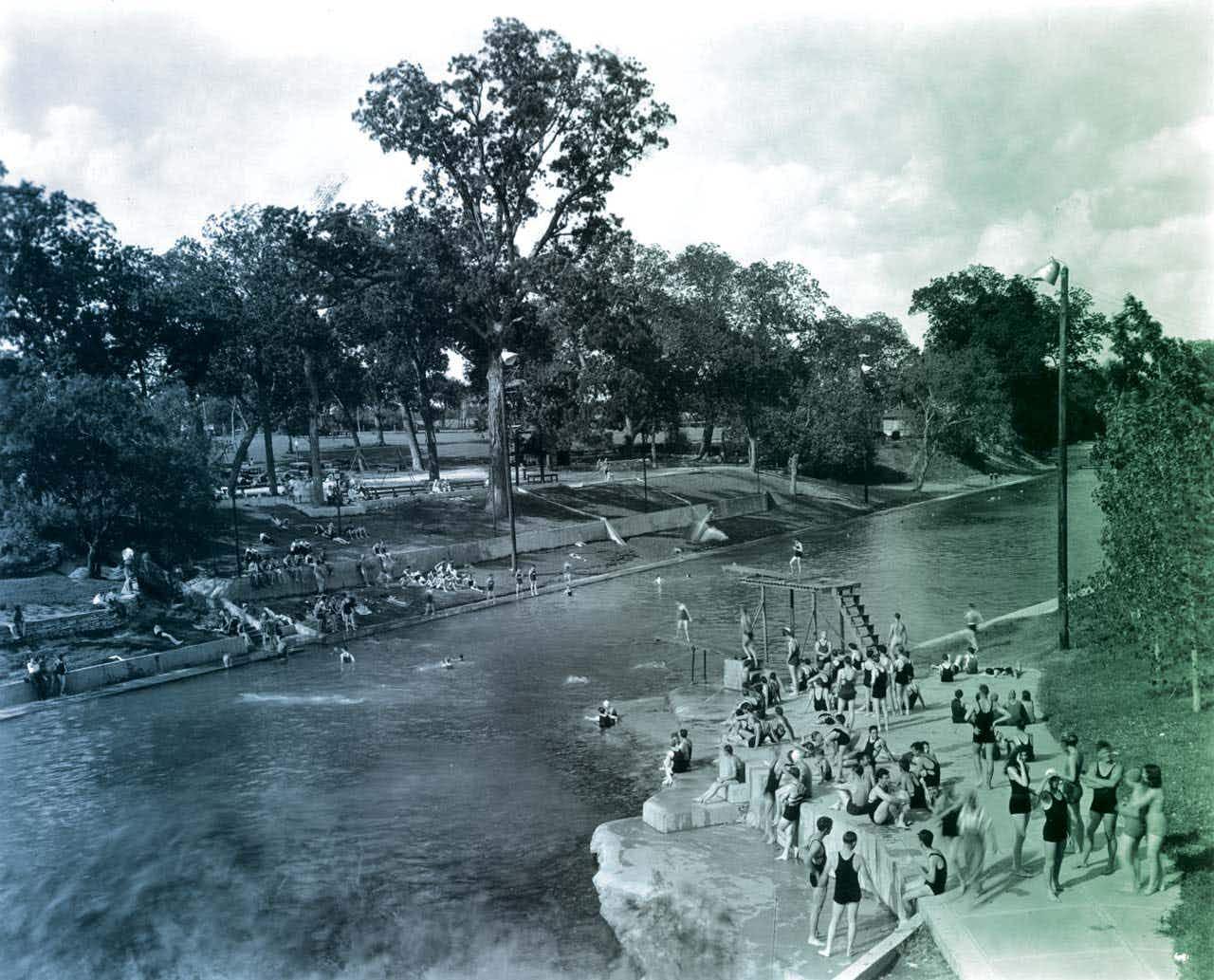 Barton Springs in the thirties.
