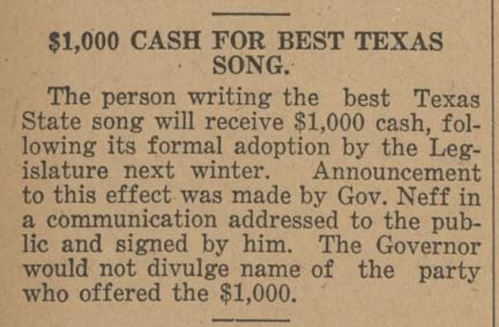 A clipping from the Honey Grove Signal, dated September 5, 1924.