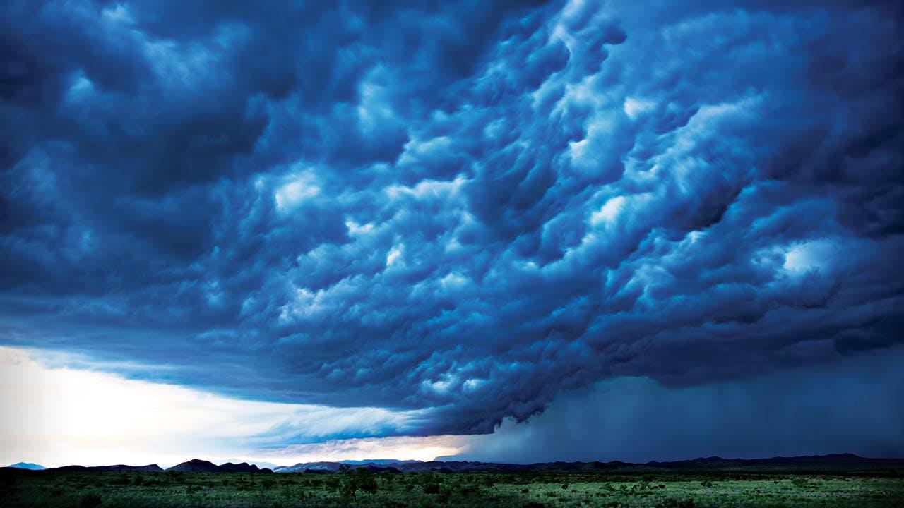 A thunderstorm rolls through Marathon on June 14, 2015.