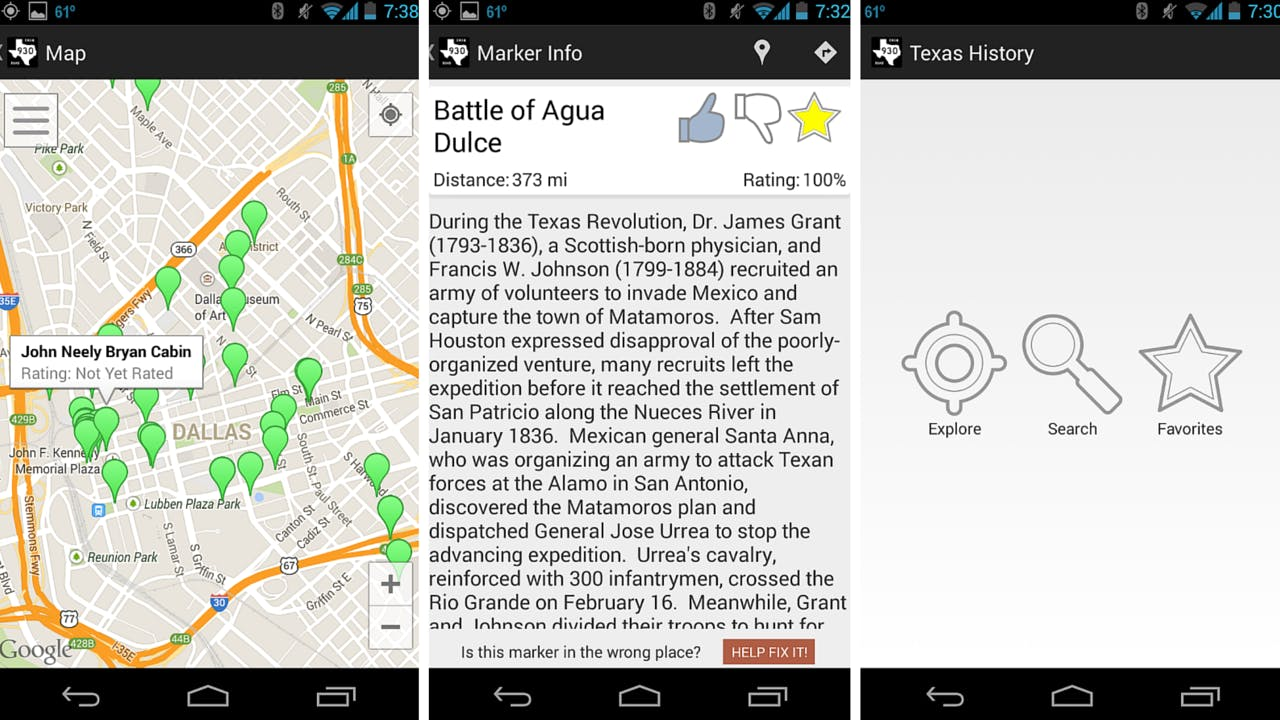 Texas Historical Markers app