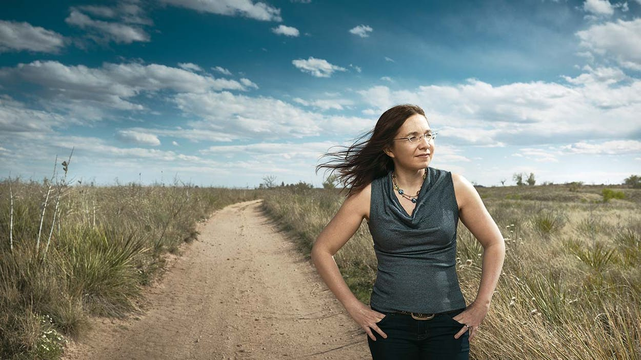 Katharine Hayhoe, photographed in Lubbock on March 31, 2016.