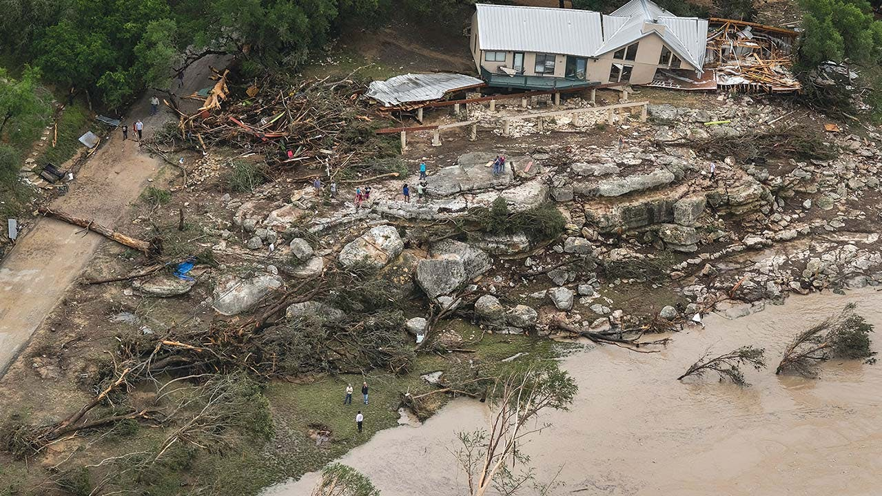 A Wimberley home that was torn off its foundation by the Memorial Day weekend flood.