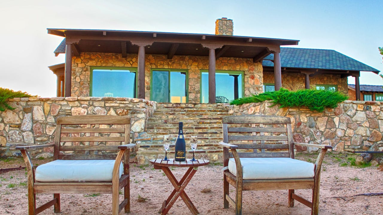 rustic texas vacation rentals palo duro canyon Doves Rest Cabins