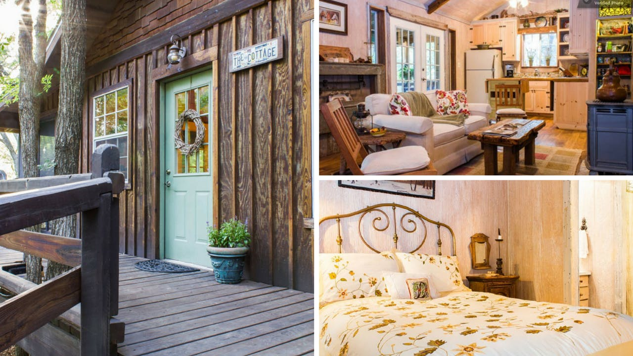 rustic texas vacation rentals denton The Cottage at BonTerra Farm