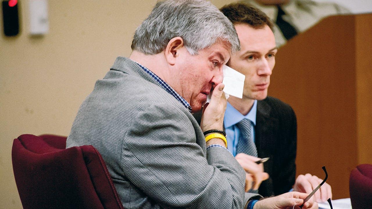 Tiede at his sentencing trial in April.