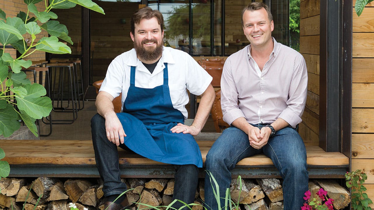 Chef Andrew Wiseheart and proprietor Ben Edgerton.