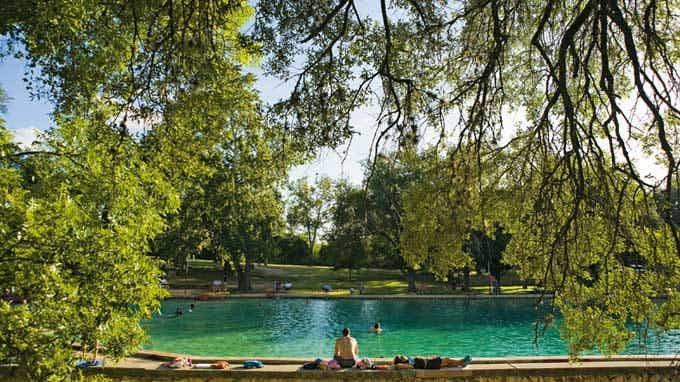 Austin Barton Springs swimming holes