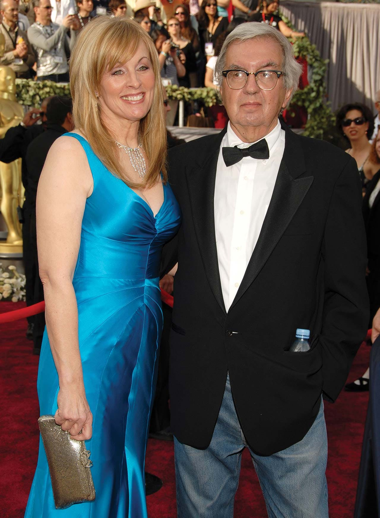In his late sixties, standing on the red carpet with Ossana at the 2006 Academy Awards.