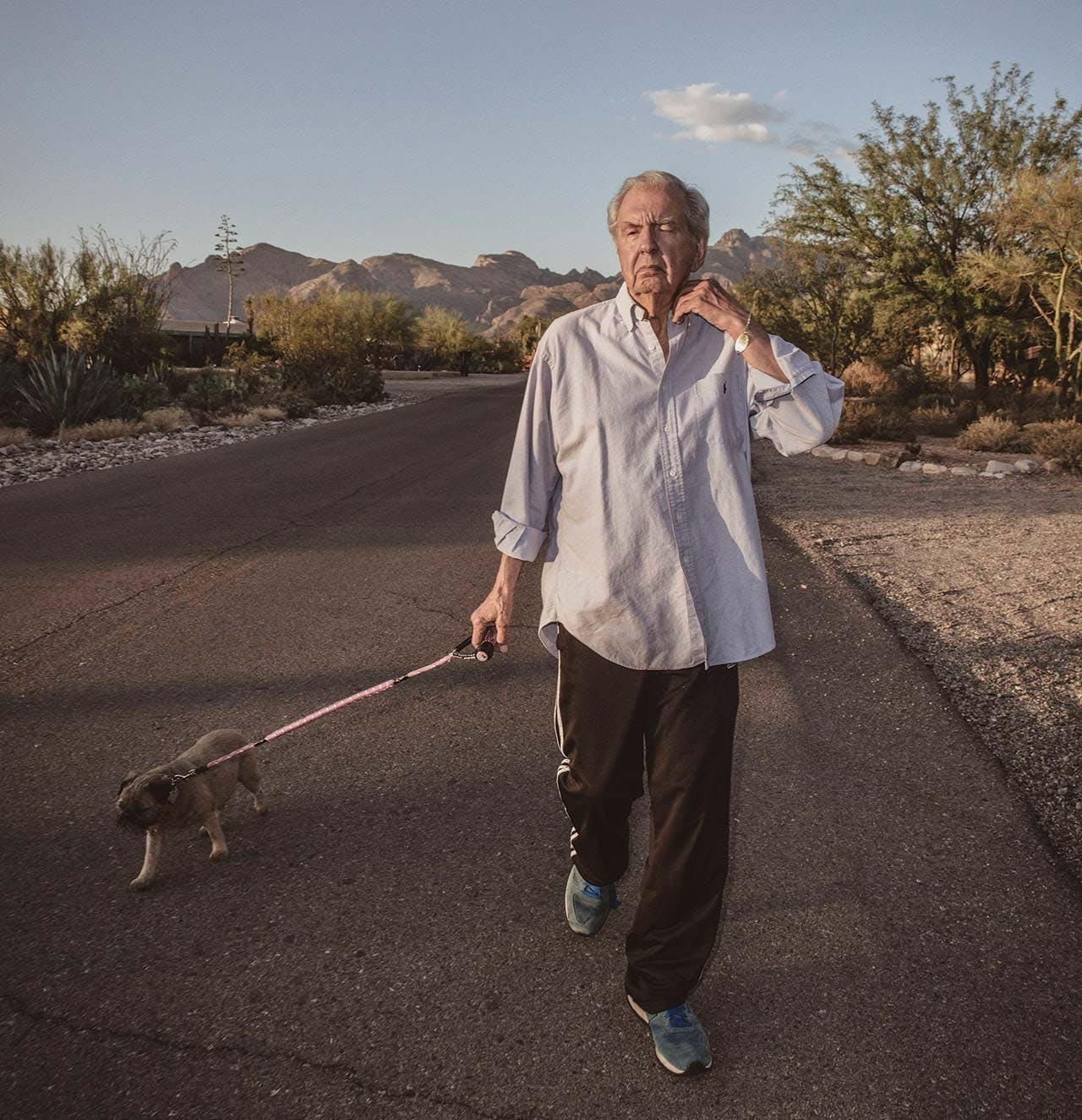 McMurtry on a walk in Tucson, where he lives part-time.