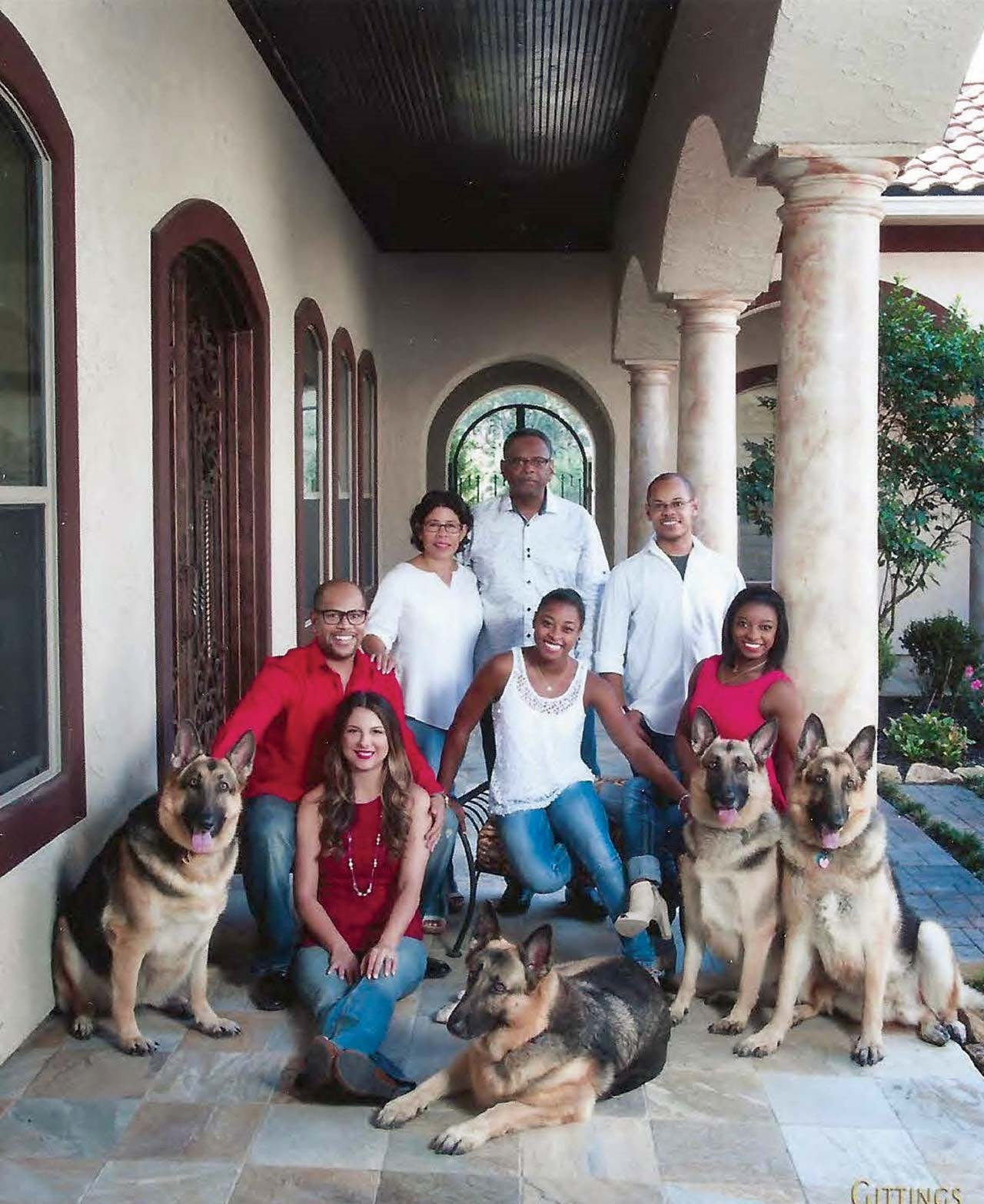 The Biles family at Ron and Nellie's home in 2015.