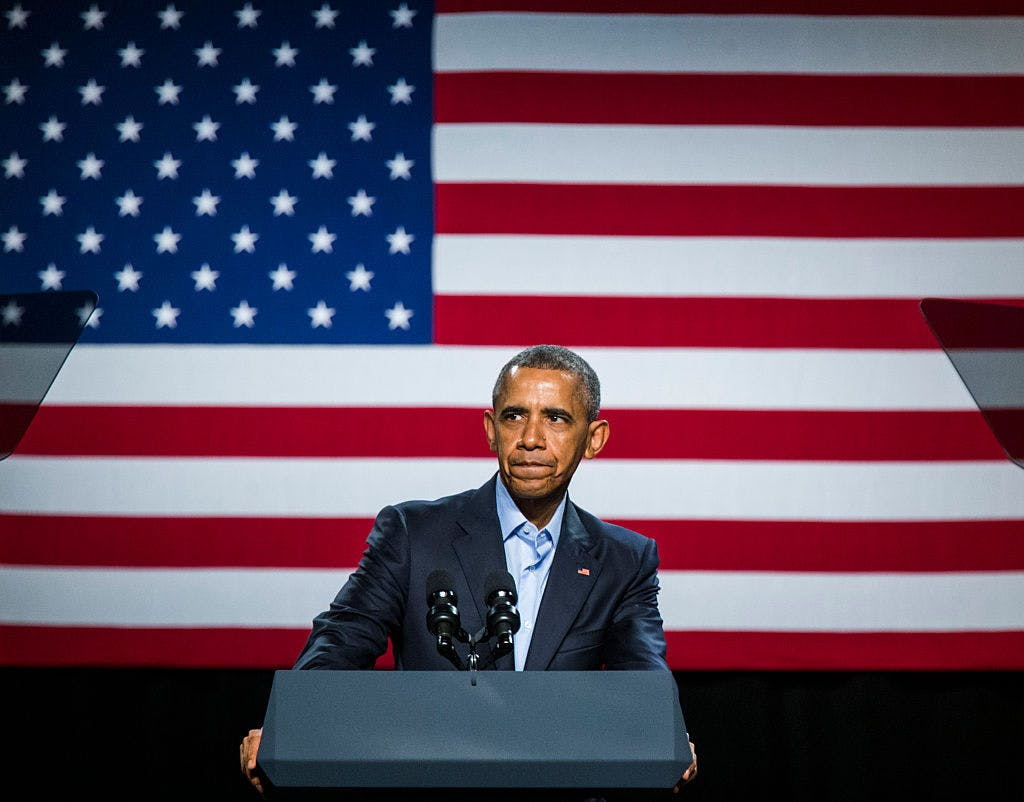U.S. President Barack Obama speaks at a private Democratic National Committee event at Gilley's Club Dallas on March 12, 2016 in Dallas, Texas. The president will be in Dallas again for a memorial service Tuesday, July 12.