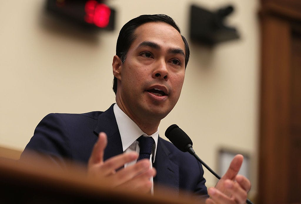 U.S. Secretary of Housing and Urban Development (HUD) Julian Castro testifies during a hearing before the House Financial Services Committee July 13, 2016 on Capitol Hill in Washington, DC.