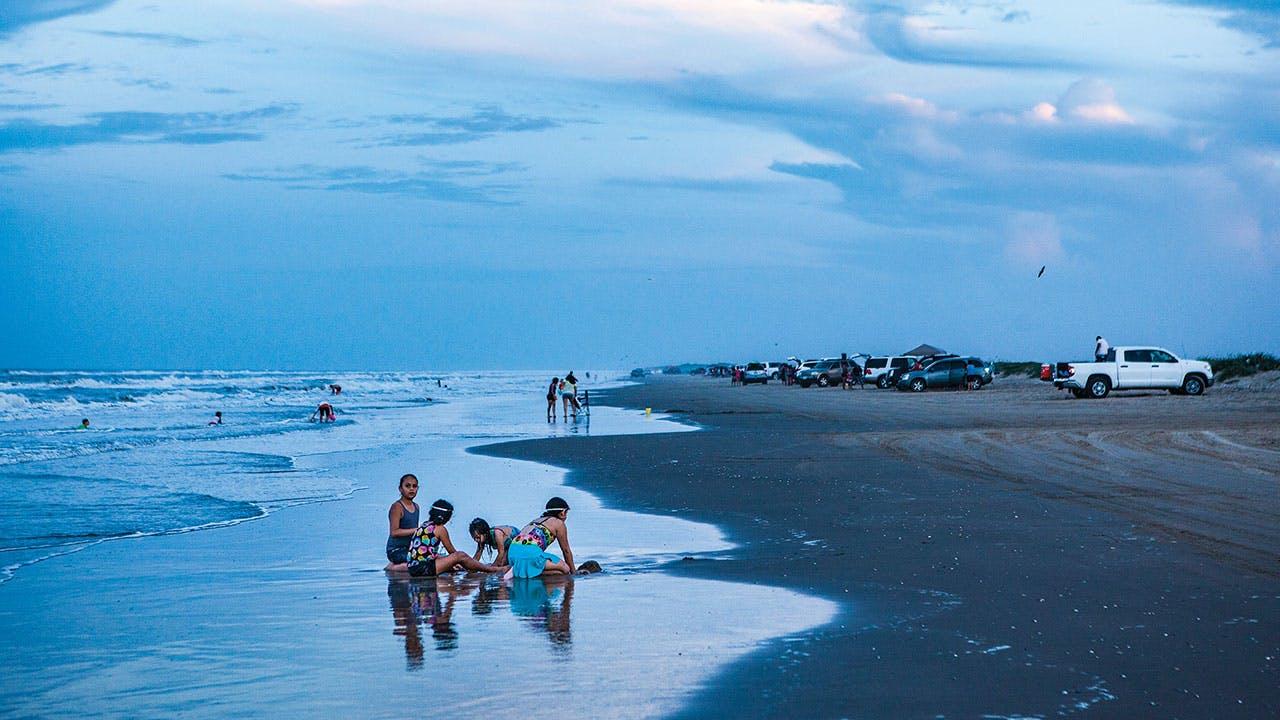 Boca Chica beachgoers.