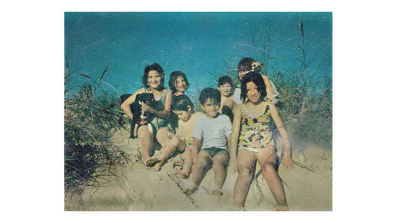 The author, third from left, with relatives at Boca Chica in the seventies.