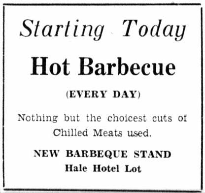 Rockdale Barbeque Stand 1934