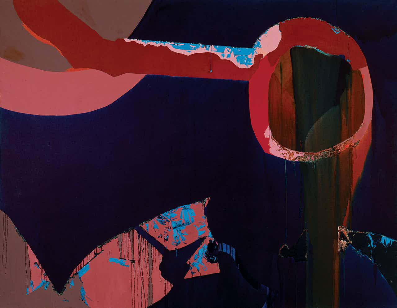 One of Hood's most important paintings, Zeus Weeps, 1972.