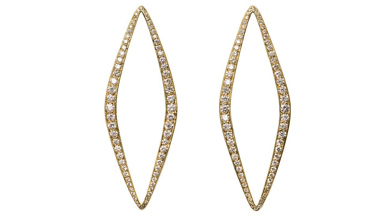 Diamond Eleanor earrings, $5,735.