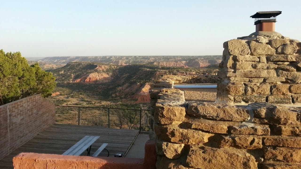 One of the cabins perched on the rim of Palo Duro Canyon.