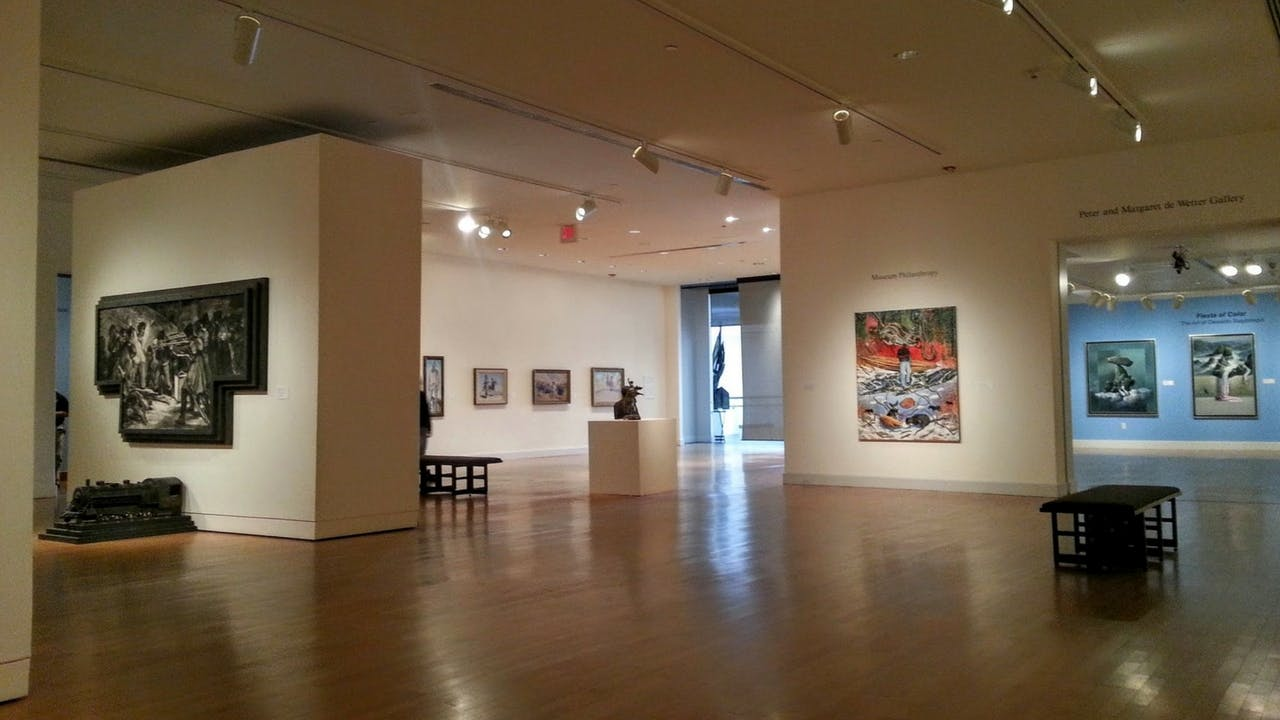 One of the permanent galleries at the El Paso Museum of Art.