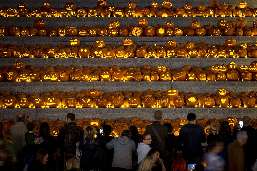 A bunch of pumpkins in London, England.