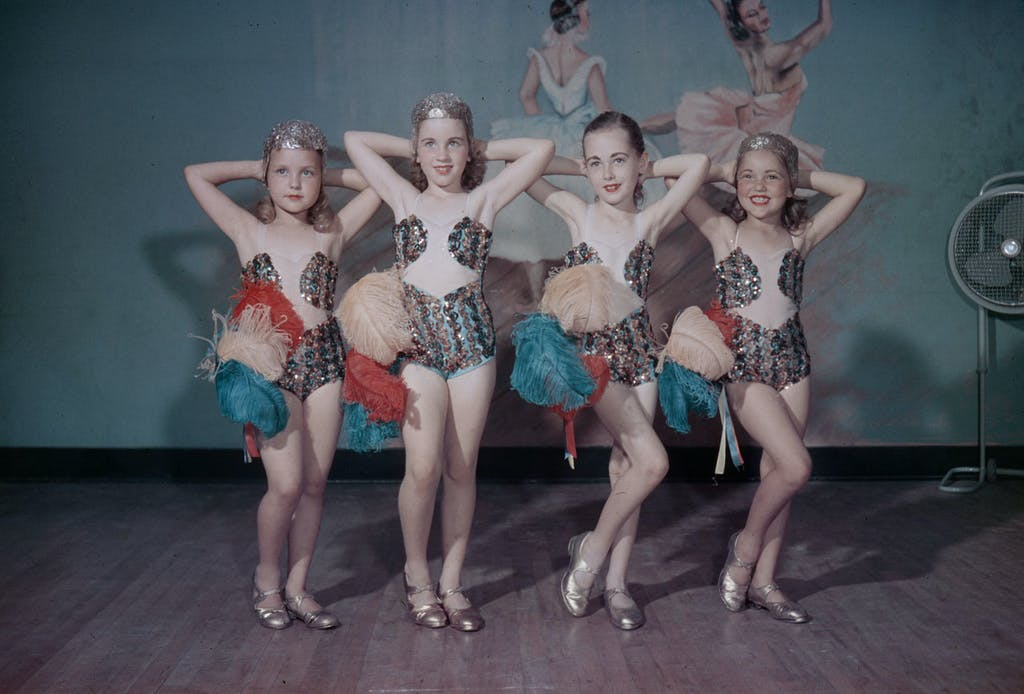 Girls from a local dance school in Fort Worth. Taken by Byrd William III, 1949.