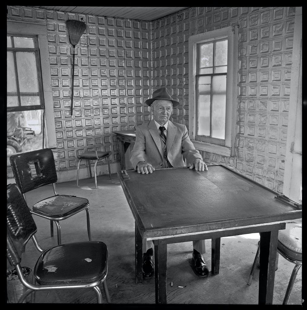 A domino parlor near Era, Texas. Photograph by Byrd William IV, 1981.